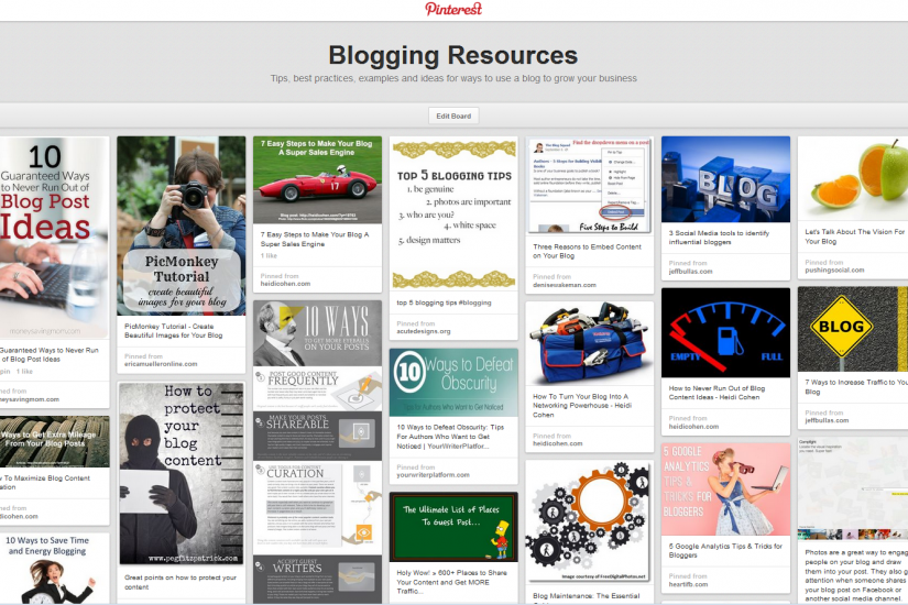 blogging resources Pinterest Board