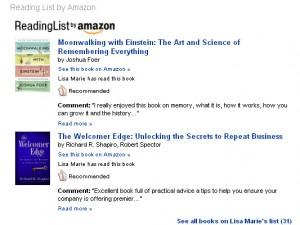 LinkedIn Amazon List
