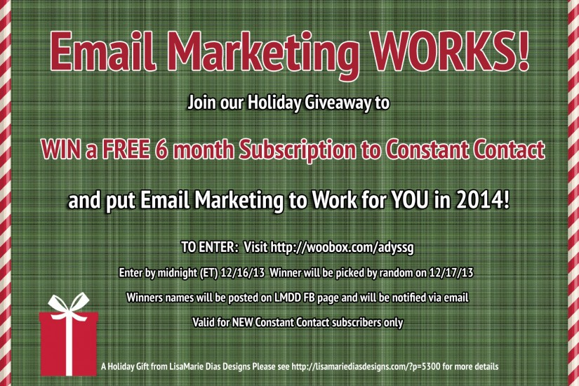 WIN a FREE 6 month Subscription to Constant Contact!