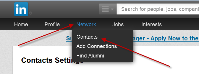 how to see my contacts on linkedin