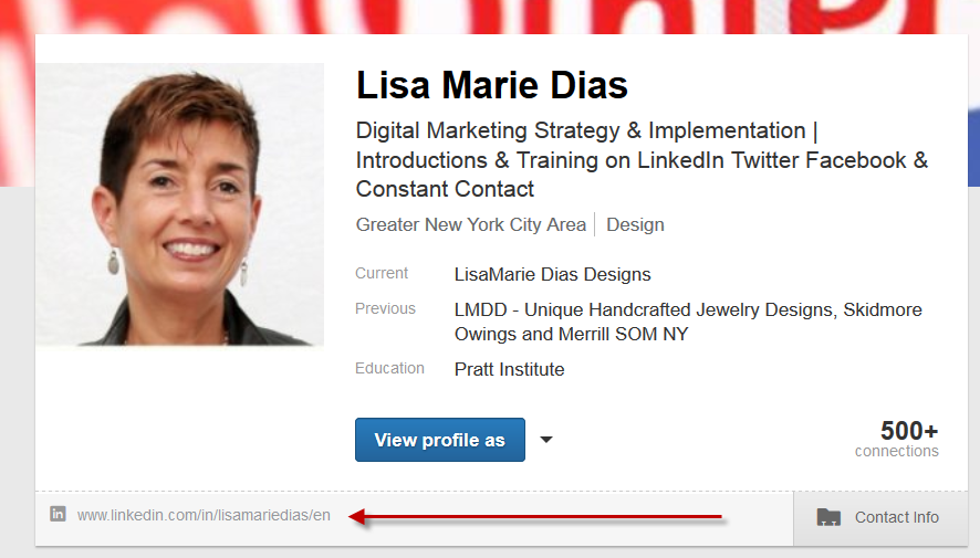 how to share your linkedin profile link