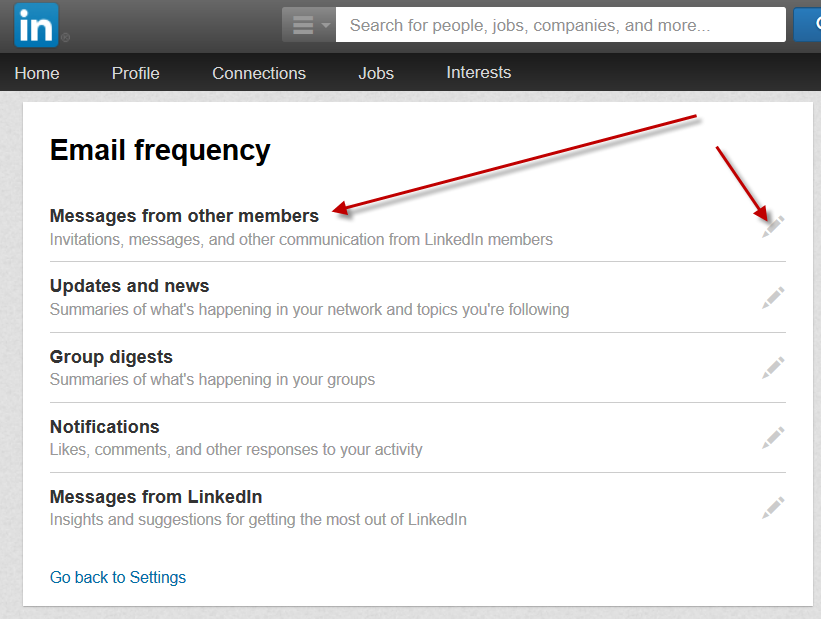 Email Notifications on LinkedIn