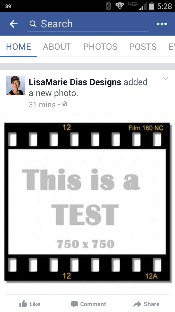 Film test 750 x 750 FB mobile