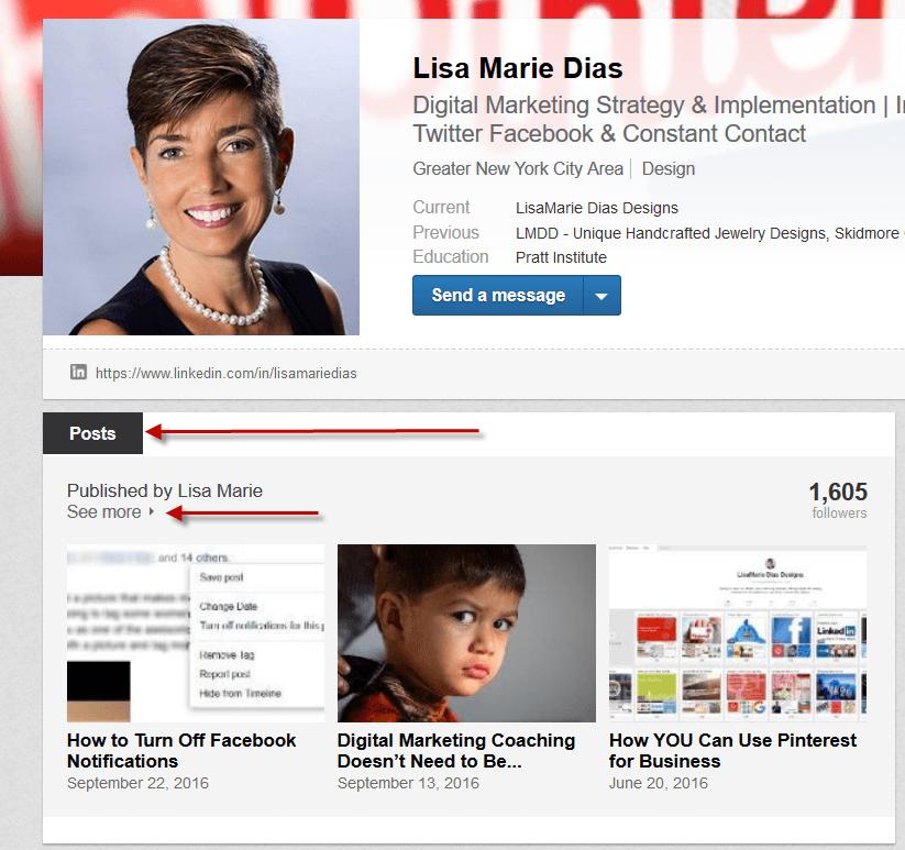 LinkedIn published posts