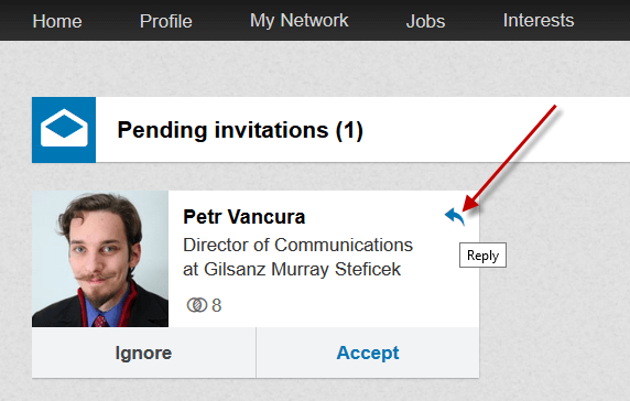 Accepting LinkedIn Invitations