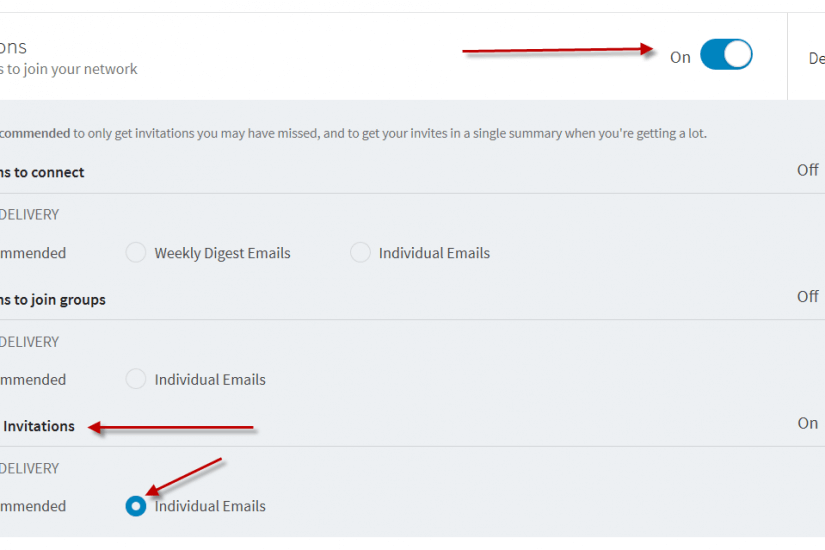 How to set you LinkedIn E-Mail Notifications