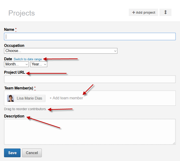 how to add a project to your LinkedIn profile