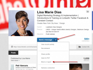How to Block or Report a Person and/or Inappropriate Activity on LinkedIn