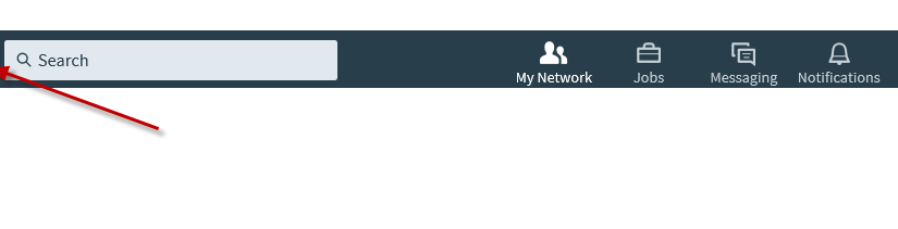 LinkedIn Home Button