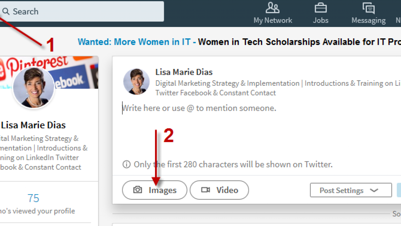 How to Add a Photo AND a Link on LinkedIn - LisaMarie Dias