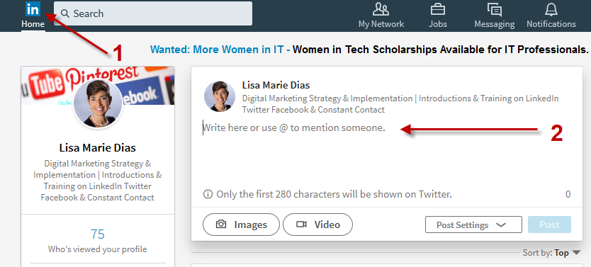 How to Add a Photo AND a Link on LinkedIn 1.b