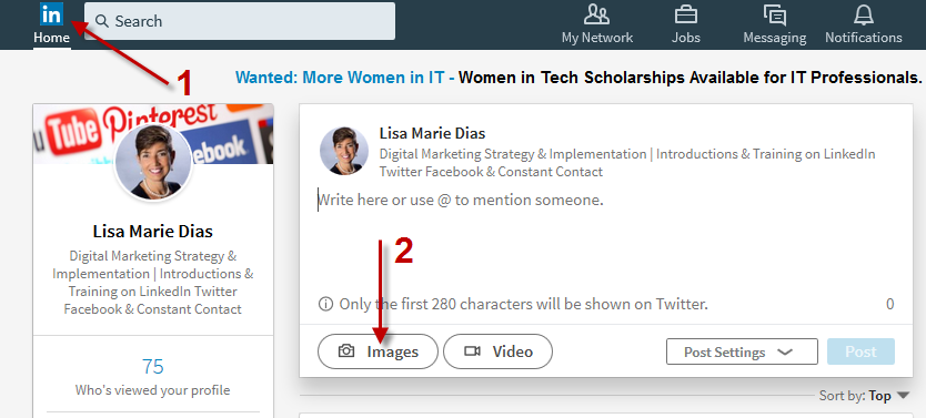 How to Add a Photo AND a Link on LinkedIn