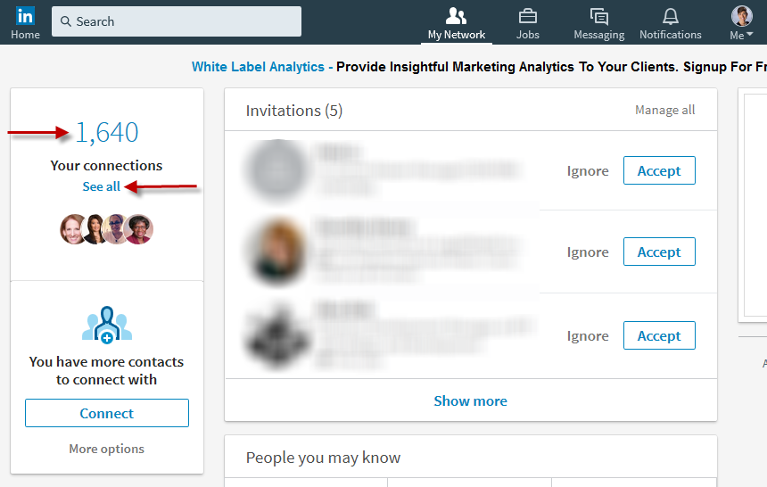 How to export LinkedIn Connections