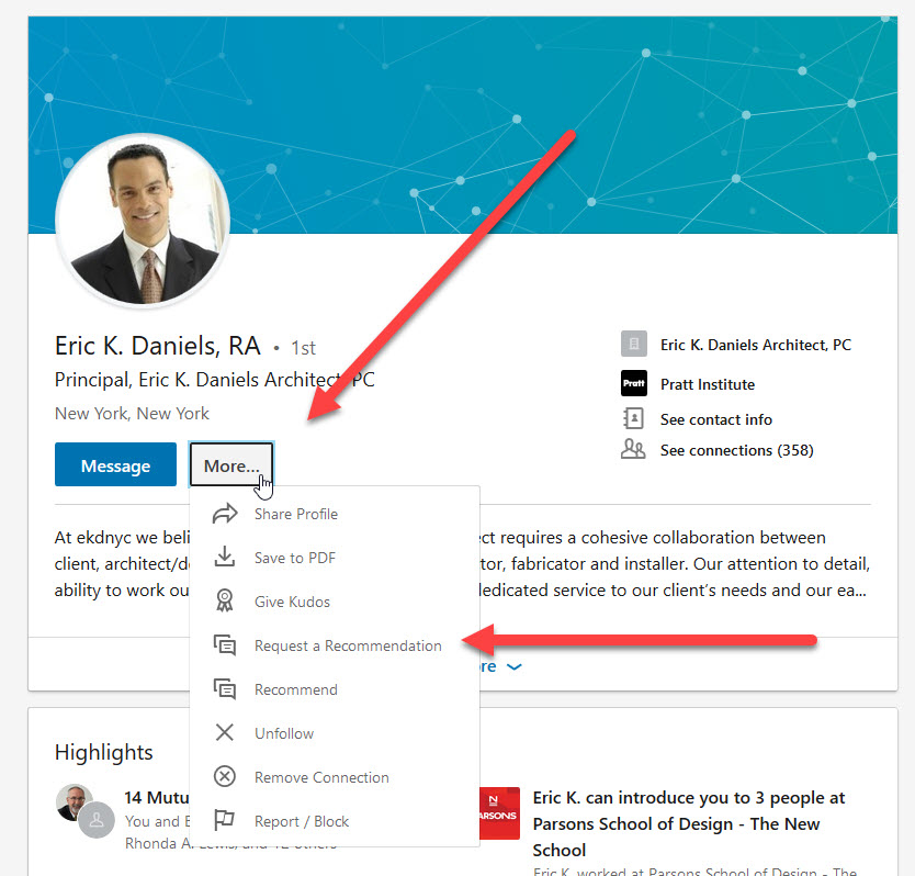 How to Request a LinkedIn Recommendation
